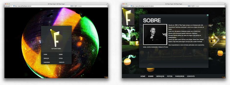 Desenvolvimento do Site DJ Filipe Fogel