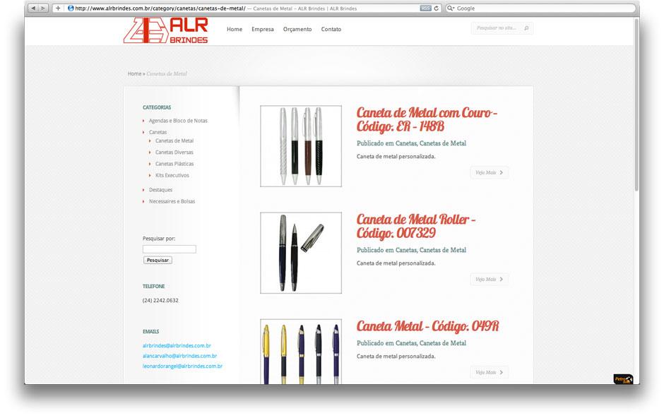Exemplo de desenvolvimento de e-commerce, visual simples e informações importantes disponíveis a no máximo 1 clique
